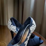 Crockette's Images Wedding Photography- bridal photo of shoes, garter and jewelry