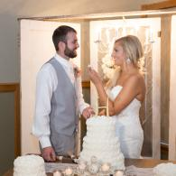 Crockette's Images Wedding Photography- Wedding reception photo of the bride and groom cutting their