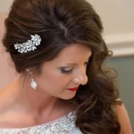 Crockette's Images Wedding Photography- side view of bride looking down.