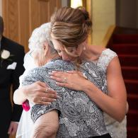 Crockette's Images Wedding Photography- Photo of the bride hugging her grandmother.