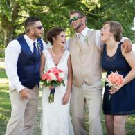 Crockette's Images Wedding Photography- wedding party photo of bride, groom, maid of honor, and best