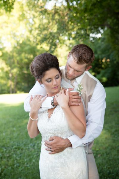 Crockette's Images Wedding Photography- Outdoor photo of the bride and groom.
