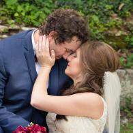 Crockette's Images Wedding Photography- Wedding photo of the bride and groom touching their heads to