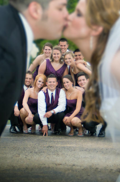 Crockette's Images Wedding Photography- Wedding party photo with the entire wedding party between br